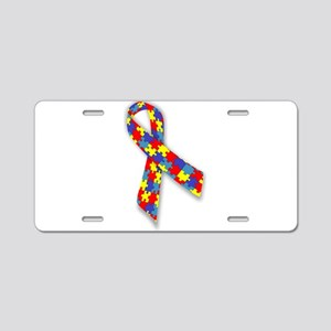 Autistic Awareness Ribbon Aluminum License Plate