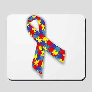 Autistic Awareness Ribbon Mousepad