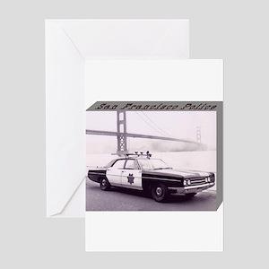 San Francisco Police Car Greeting Card