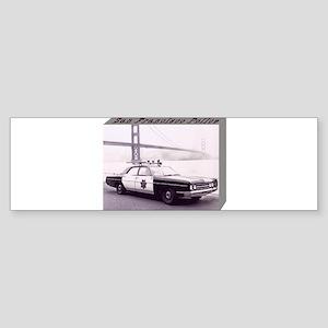 San Francisco Police Car Sticker (Bumper)