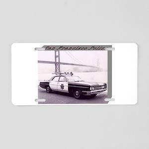 San Francisco Police Car Aluminum License Plate