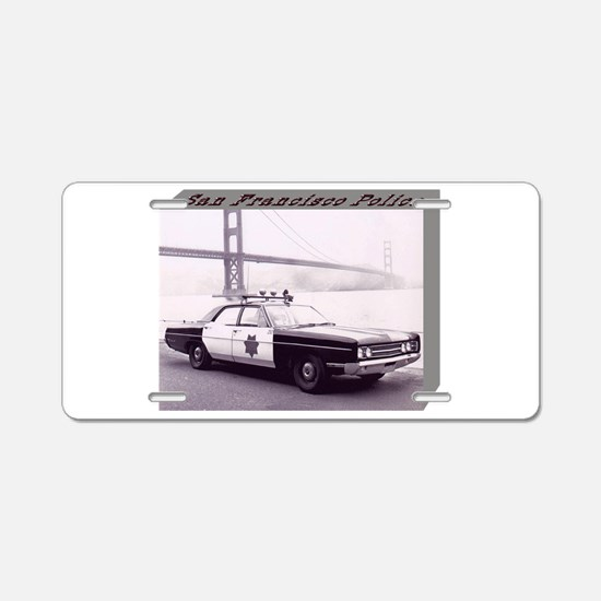 San Francisco Police Car Aluminum License Plate