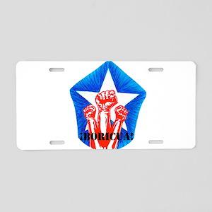 Boricua Pride Aluminum License Plate