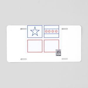 Flags Aluminum License Plate
