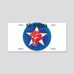 Af-Rican Aluminum License Plate