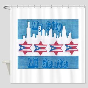 Chicago Flag Shower Curtain
