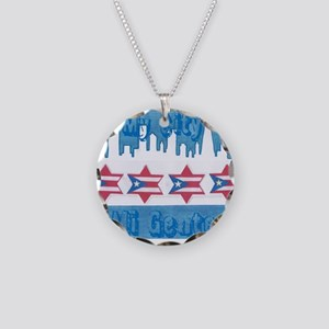 Chicago Flag Necklace Circle Charm