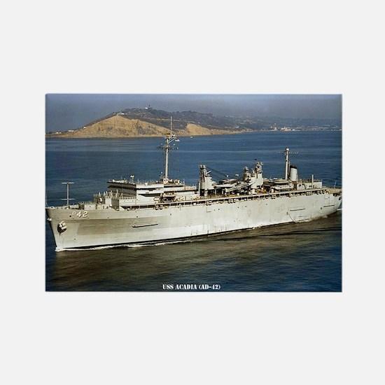 USS ACADIA Rectangle Magnet