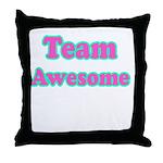 Team Awesome Throw Pillow
