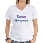 Team Awesome Women's V-Neck T-Shirt