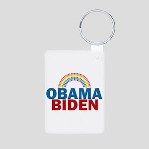 Obama Rainbow Aluminum Photo Keychain