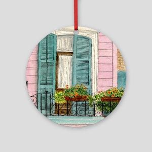 New Orleans Door Ornament (Round)