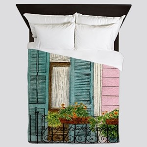 New Orleans Door Queen Duvet