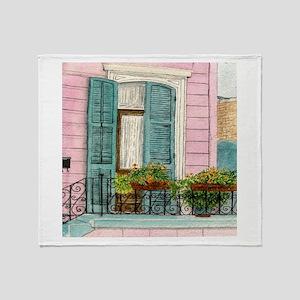 New Orleans Door Throw Blanket