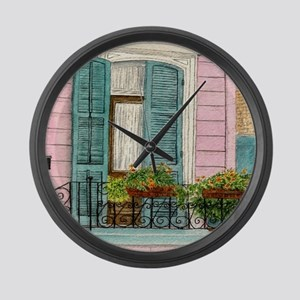 New Orleans Door Large Wall Clock
