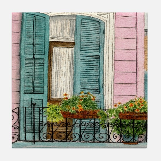 New Orleans Door Tile Coaster