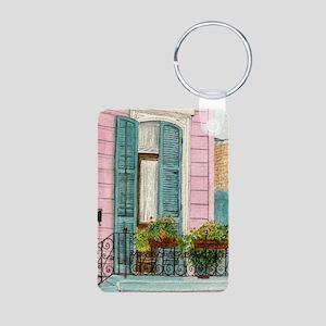 New Orleans Door Aluminum Photo Keychain