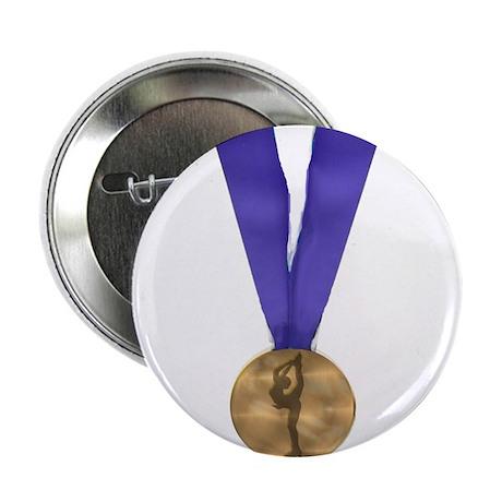 """Skater Gold Medal 2.25"""" Button"""