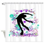 Figure Skater Spin Shower Curtain