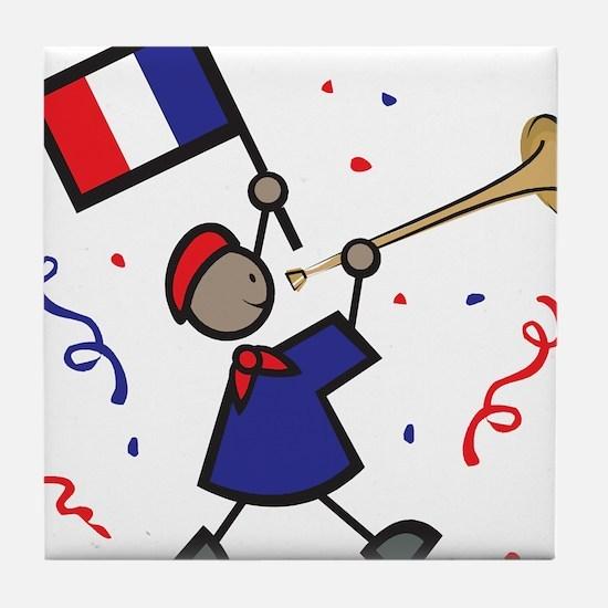 France Holiday Tile Coaster