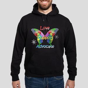 Autism Awareness Butterfly Hoodie (dark)