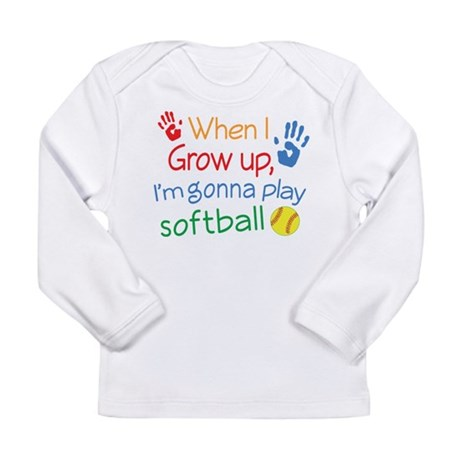 Future Softball Player Long Sleeve Infant T-Shirt