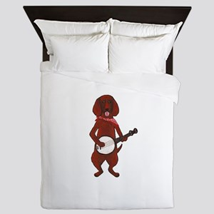 Banjo Bloodhound dog Queen Duvet
