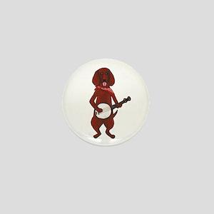 Banjo Bloodhound dog Mini Button