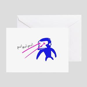 Pew Pew Pew Greeting Card