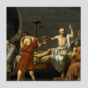 The Death Of Socrates Tile Coaster
