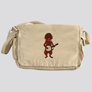 Banjo Bloodhound dog Messenger Bag