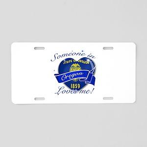 Oregon Heart Designs Aluminum License Plate