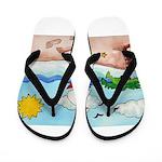 Island Art Flip Flops