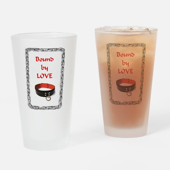 Bound by Love Chained Collar Drinking Glass