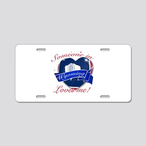 Wyoming Heart Designs Aluminum License Plate