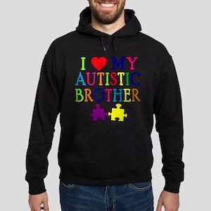 I Love My Autistic Brother Hoodie (dark)