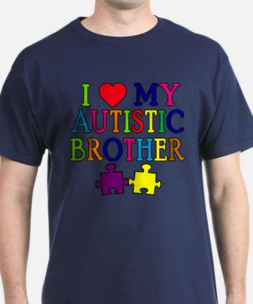 I Love My Autistic Brother T-Shirt