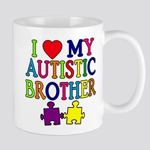 I Love My Autistic Brother Mug