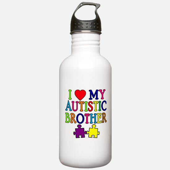 I Love My Autistic Brother Water Bottle