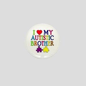 I Love My Autistic Brother Mini Button
