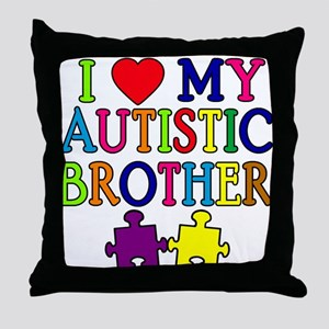 I Love My Autistic Brother Throw Pillow