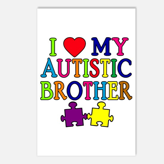 I Love My Autistic Brother Postcards (Package of 8