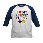 I Love My Autistic Cousin Kids Baseball Jersey