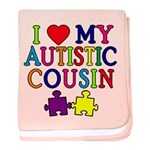 I Love My Autistic Cousin baby blanket
