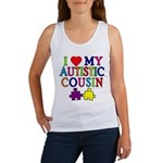 I Love My Autistic Cousin Women's Tank Top
