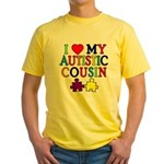 I Love My Autistic Cousin Yellow T-Shirt