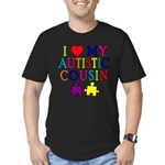 I Love My Autistic Cousin Men's Fitted T-Shirt (da