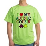 I Love My Autistic Cousin Green T-Shirt