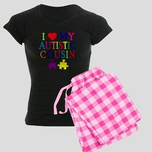 I Love My Autistic Cousin Women's Dark Pajamas
