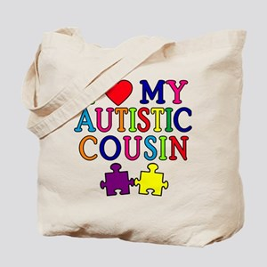 I Love My Autistic Cousin Tote Bag
